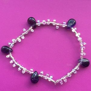 Jewelry - Amethyst and Glass Bracelet